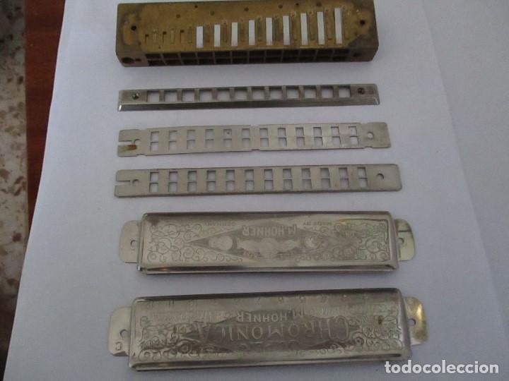 ARMÓNICA ANTIGUA THE SUPER CHROMONICA M.HOHNER ESTA DESMONTADA (Música - Instrumentos Musicales - Viento Metal)
