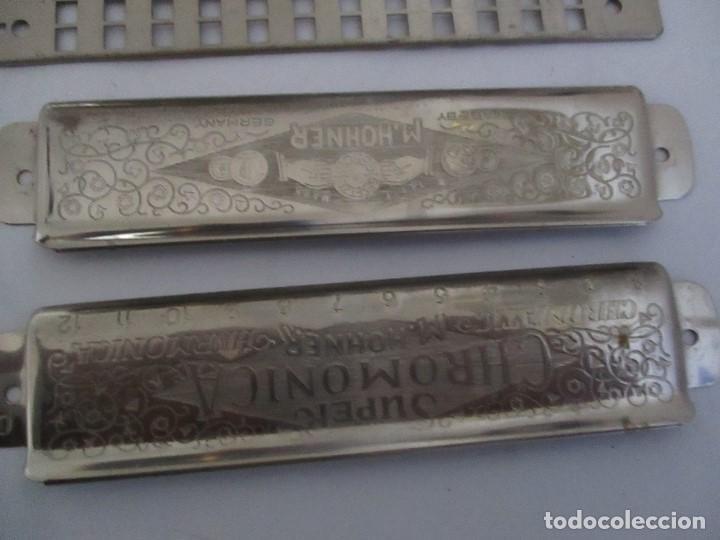 Instrumentos musicales: Armónica Antigua The Super Chromonica M.Hohner esta desmontada - Foto 2 - 199234276