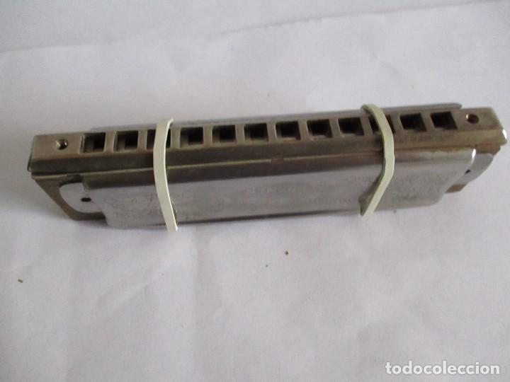 Instrumentos musicales: Armónica Antigua The Super Chromonica M.Hohner esta desmontada - Foto 3 - 199234276