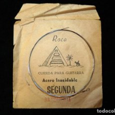 Instrumentos musicales: ANTIGUA CUERDA PARA BANDURRIA MARCA ROCA. SEGUNDA, ACERO INOXIDABLE. AÑOS 50. Lote 200338876