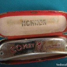 Instrumentos musicales: HARMONICA COMET Y FUNDA CHROMÓNICA II HONNER. Lote 200507180