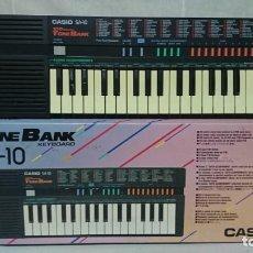 Instruments Musicaux: ÓRGANO, TECLADO CASIO SA - 10, TONE BANK, FUNCIONANDO . Lote 200895198