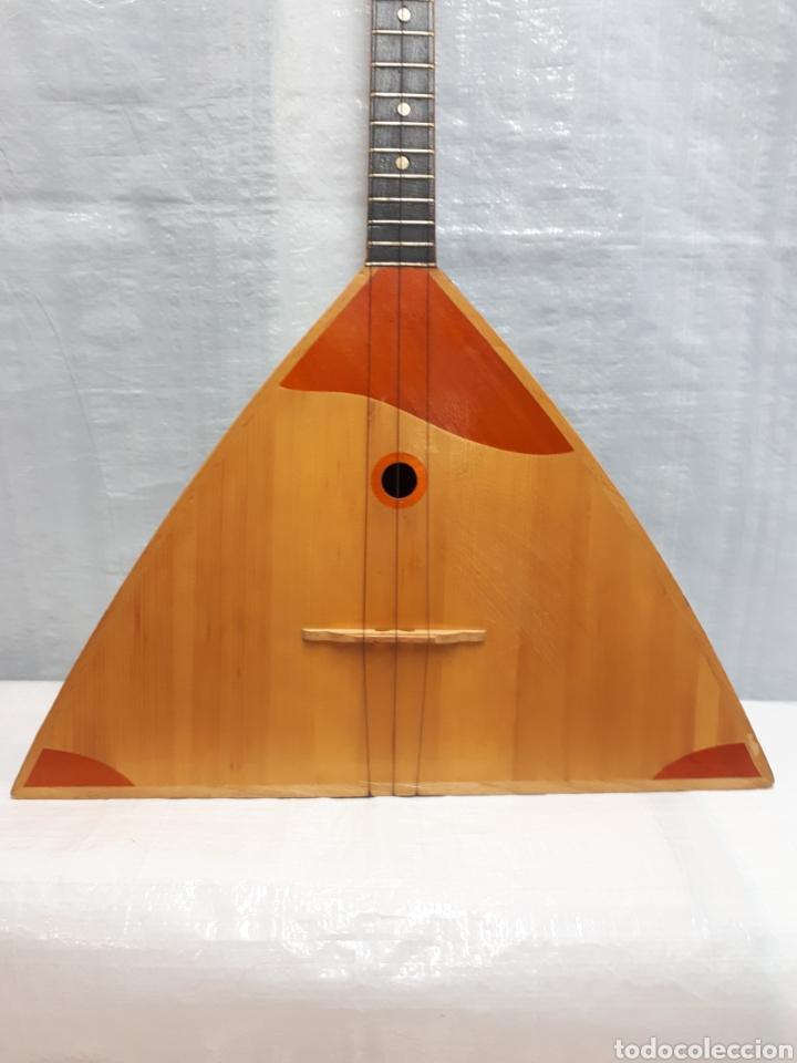 Instrumentos musicales: BALALAICA INSTRUMENTO DE CUERDA ANTIGUO DE 3 CUERDAS - Foto 3 - 201252082