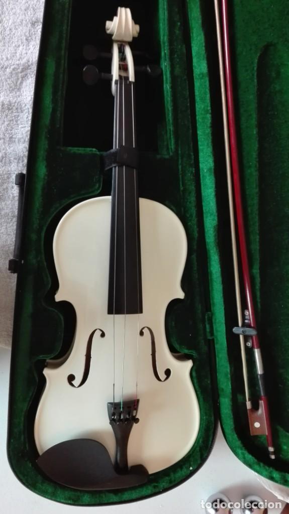 VIOLÍN CON SU FUNDA DE TERCIO (Música - Instrumentos Musicales - Cuerda Antiguos)