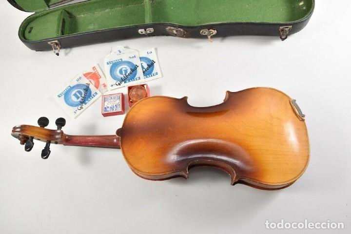 Instrumentos musicales: ANTIGUO VIOLIN INTERIOR FIRMA Antonius Stradiuarius MALETIN 76 cm violin 59 cm x 36 longitud 620,00 - Foto 13 - 202556562