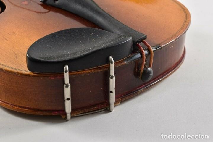 Instrumentos musicales: ANTIGUO VIOLIN INTERIOR FIRMA Antonius Stradiuarius MALETIN 76 cm violin 59 cm x 36 longitud 620,00 - Foto 3 - 202556562