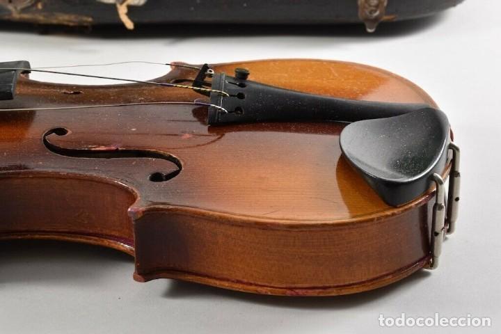 Instrumentos musicales: ANTIGUO VIOLIN INTERIOR FIRMA Antonius Stradiuarius MALETIN 76 cm violin 59 cm x 36 longitud 620,00 - Foto 5 - 202556562