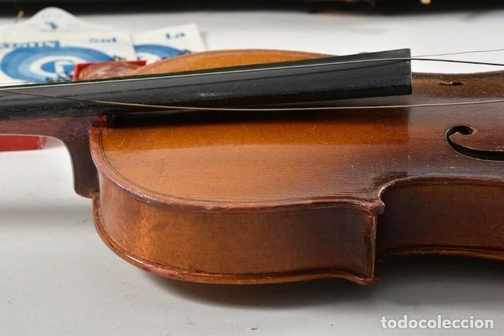 Instrumentos musicales: ANTIGUO VIOLIN INTERIOR FIRMA Antonius Stradiuarius MALETIN 76 cm violin 59 cm x 36 longitud 620,00 - Foto 6 - 202556562