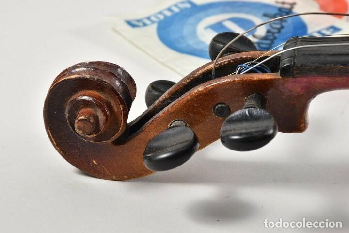 Instrumentos musicales: ANTIGUO VIOLIN INTERIOR FIRMA Antonius Stradiuarius MALETIN 76 cm violin 59 cm x 36 longitud 620,00 - Foto 7 - 202556562