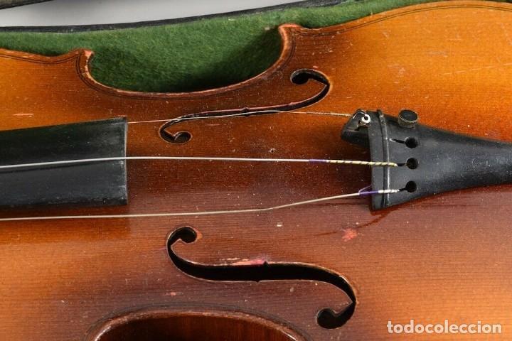 Instrumentos musicales: ANTIGUO VIOLIN INTERIOR FIRMA Antonius Stradiuarius MALETIN 76 cm violin 59 cm x 36 longitud 620,00 - Foto 11 - 202556562
