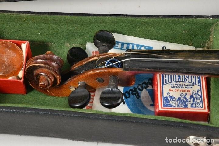 Instrumentos musicales: ANTIGUO VIOLIN INTERIOR FIRMA Antonius Stradiuarius MALETIN 76 cm violin 59 cm x 36 longitud 620,00 - Foto 12 - 202556562