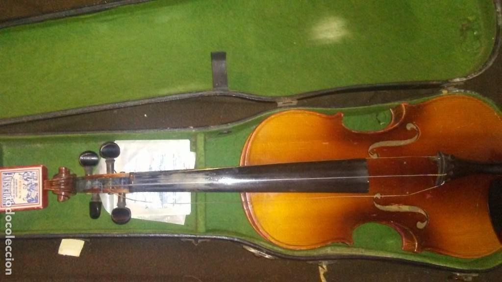 Instrumentos musicales: ANTIGUO VIOLIN INTERIOR FIRMA Antonius Stradiuarius MALETIN 76 cm violin 59 cm x 36 longitud 620,00 - Foto 15 - 202556562