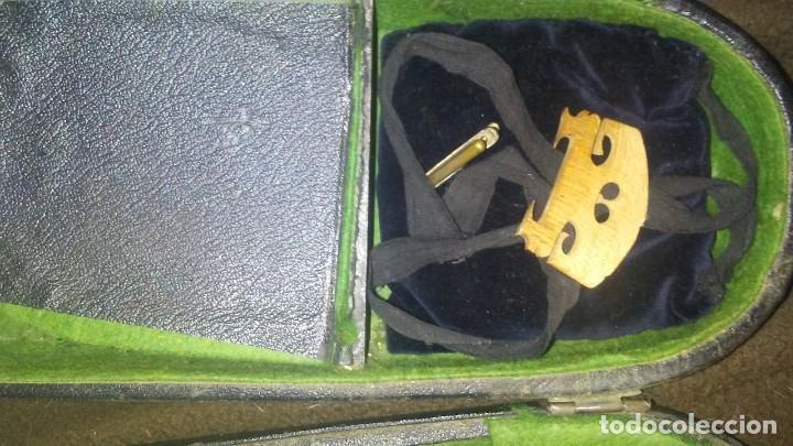 Instrumentos musicales: ANTIGUO VIOLIN INTERIOR FIRMA Antonius Stradiuarius MALETIN 76 cm violin 59 cm x 36 longitud 620,00 - Foto 16 - 202556562
