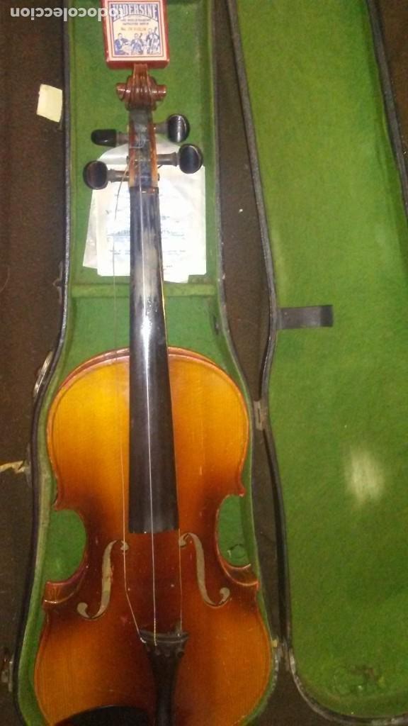 Instrumentos musicales: ANTIGUO VIOLIN INTERIOR FIRMA Antonius Stradiuarius MALETIN 76 cm violin 59 cm x 36 longitud 620,00 - Foto 20 - 202556562