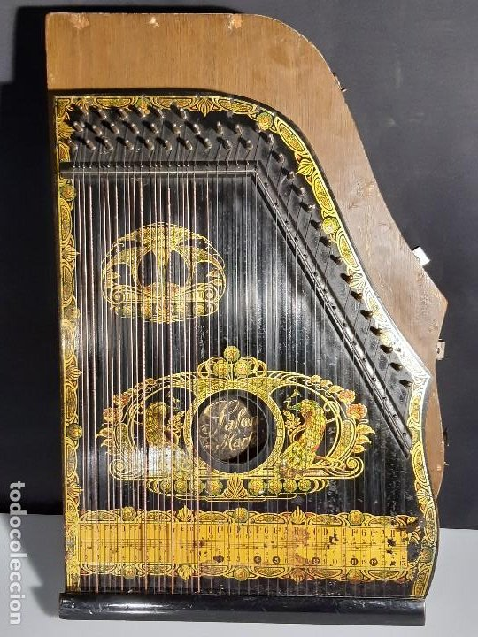 CÍTARA CON CAJA. SALON HARFE. ALEMANIA. SIGLO XIX-XX. (Música - Instrumentos Musicales - Cuerda Antiguos)