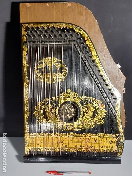 Instrumentos musicales: Cítara con caja. Salon Harfe. Alemania. Siglo XIX-XX. - Foto 3 - 202798308