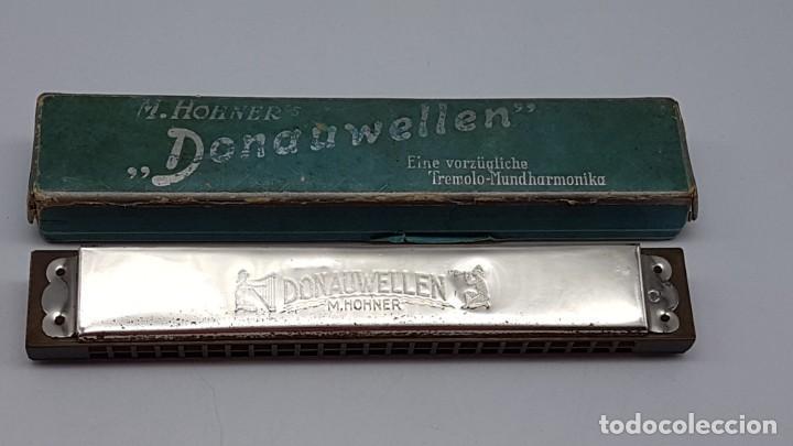 ARMÓNICA HOHNER DONAUWELLEN CON ESTUCHE ORIGINAL ( ANTIGUA ) (Música - Instrumentos Musicales - Viento Metal)