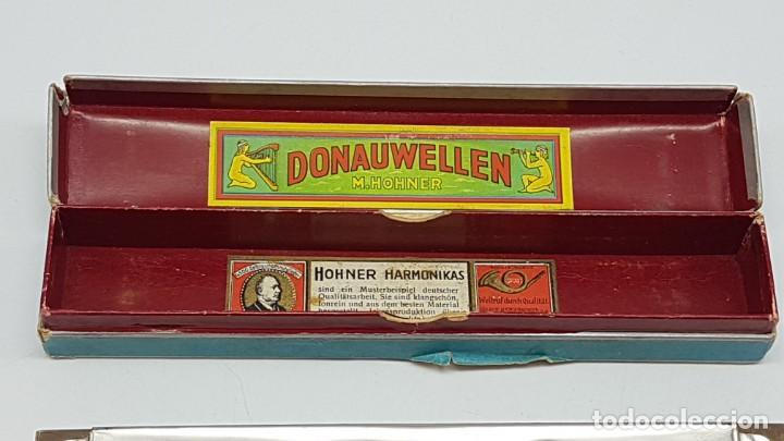 Instrumentos musicales: ARMÓNICA HOHNER DONAUWELLEN CON ESTUCHE ORIGINAL ( ANTIGUA ) - Foto 11 - 203062681