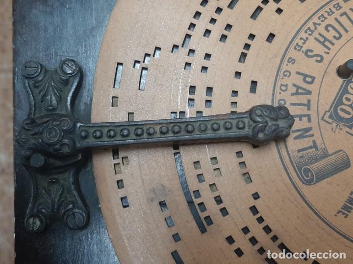Instrumentos musicales: CAJA DE MUSICA ARISTONETTE DE ADOLFO GASCON ( ALMACEN DE MUSICA). MURCIA. CO XIX - Foto 5 - 203827501