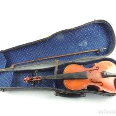 Instrumentos musicales: ANTIGUO INSTRUMENTO MUSICAL VIOLÍN CON ARCO Y ESTUCHE ORIGINAL VINTAGE. Lote 203953387