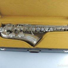 Instrumentos musicales: ANTIGUO SAXÓFONO AUTENTICO INSTRUMENTO MUSICAL MARCA WELTKLANG SOLOIST FUNDA O. Lote 203954650