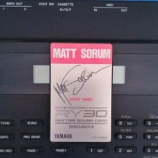 "Instrumentos musicales: TARJETA DE SONIDO RSC 3073 ""MATT SORUM"" PARA YAMAHA RY30. Lote 205096910"