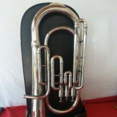 Instrumentos musicales: BOMBARDINO CON MALETA ORIGINAL. NO SE LE APRECIA MARCA.. Lote 205248673