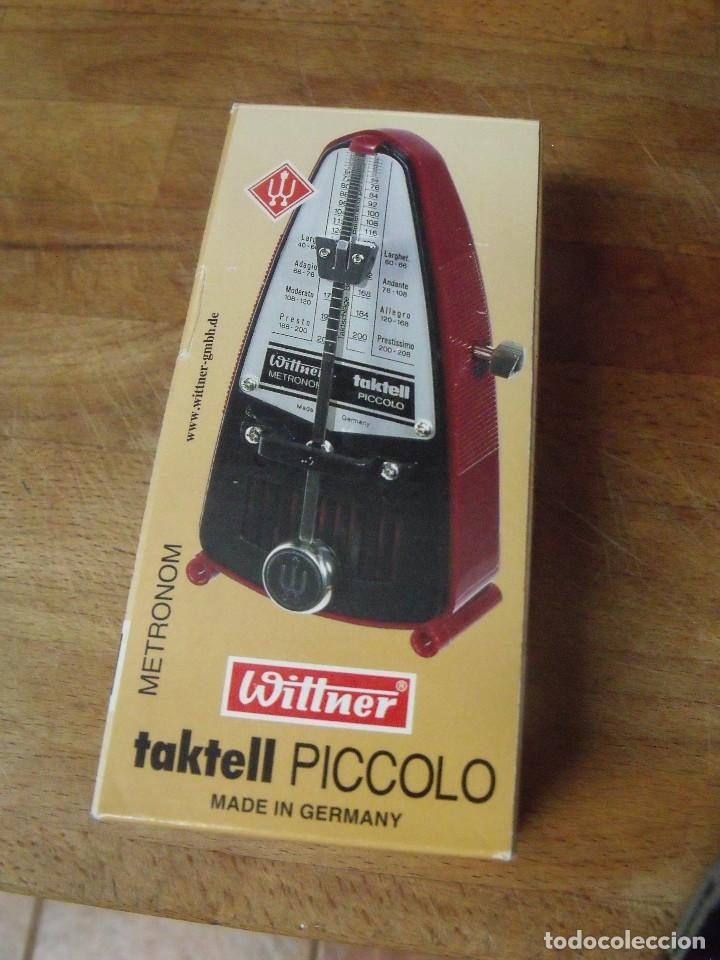 Instrumentos musicales: METRONOMO TACKTELL PICCOLO DE WITNER-LOTE 265 - Foto 2 - 205312667