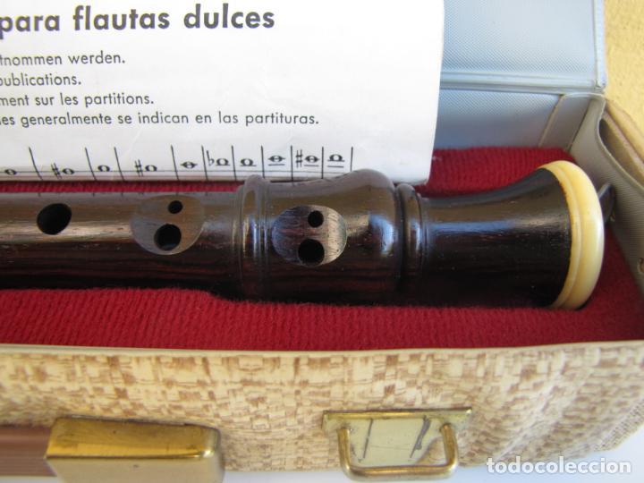 Instrumentos musicales: 3- Flauta Hohner madera y baquelita en su estuche original. - Foto 11 - 205453483