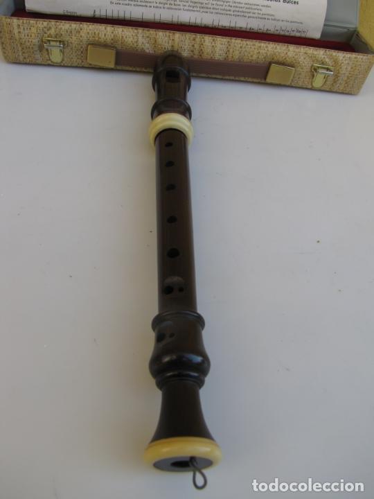 Instrumentos musicales: 3- Flauta Hohner madera y baquelita en su estuche original. - Foto 12 - 205453483
