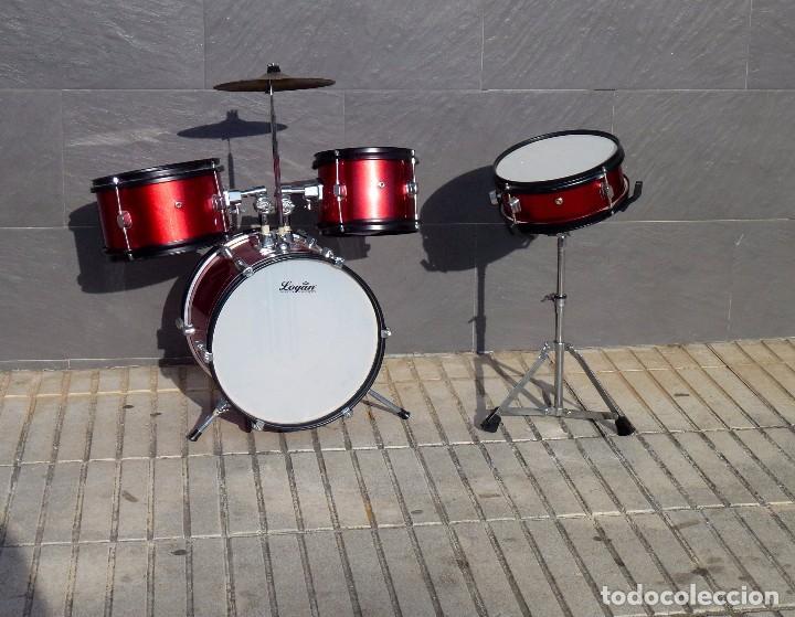 BATERIA PARA NIÑO DE LA MARCA LOGAN.75 CM. (Música - Instrumentos Musicales - Percusión)