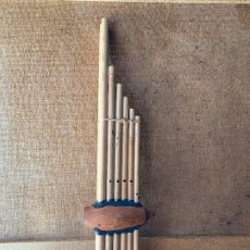 Instrumentos musicales: FLAUTA DE CAÑA DE BAMBU, INSTRUMENTO MUSICAL. Lote 205693202