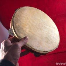 Instrumentos musicales: PANDERETA DE PIEL. Lote 205759758