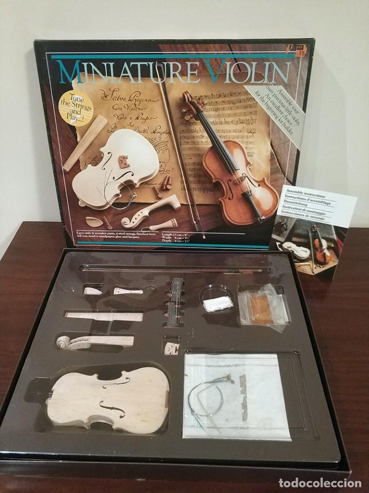 BONITA MAQUETA MINIATURE VIOLIN KIT MODELS HOLLAND (Música - Instrumentos Musicales - Cuerda Antiguos)