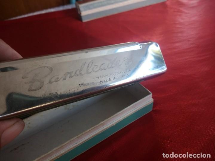 Instrumentos musicales: Antigua armonica bandleader made in china.Años 70,en caja original - Foto 3 - 206392443