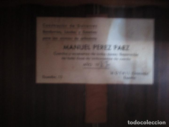Instrumentos musicales: guitarra antigua Manuel Perez Paez - Foto 3 - 206447703