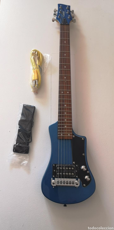 GUITARRA ELÉCTRICA DISEÑO REGALO CORREA Y CABLE GAINER - TECHNOLOGY U.S.A (Música - Instrumentos Musicales - Guitarras Antiguas)
