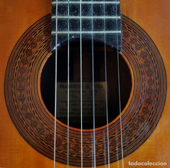 Instrumentos musicales: GUITARRA DE CONCIERTO. FRANCISCO MANUEL FLETA. BARCELONA. FABRICADA EN 1968. - Foto 6 - 206837113
