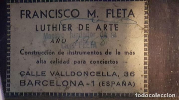 Instrumentos musicales: GUITARRA DE CONCIERTO. FRANCISCO MANUEL FLETA. BARCELONA. FABRICADA EN 1968. - Foto 33 - 206837113