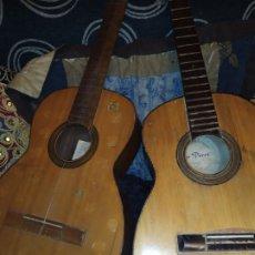 Instrumentos musicales: LOTE DOS ANTIGUAS GUITARRAS RESTAURAR MARCA ROCA ( VALENCIA) Y LA PERET ESPAÑA ÚNICA?. Lote 207670488