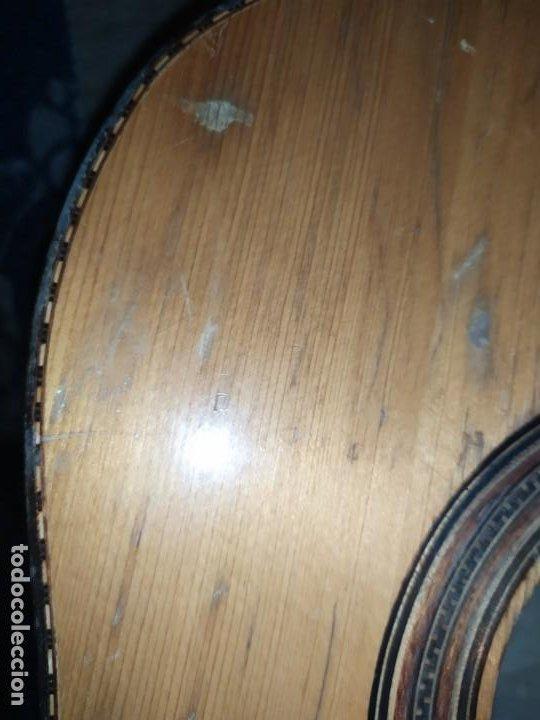 Instrumentos musicales: LOTE DOS ANTIGUAS GUITARRAS RESTAURAR MARCA ROCA ( VALENCIA) Y LA PERET ESPAÑA ÚNICA? - Foto 28 - 207670488