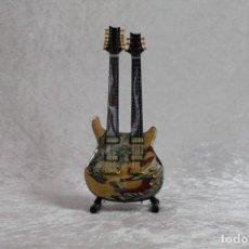 Instrumentos musicales: MINI GUITARRA DE CARLOS SANTANA DOBLE. Lote 208730513