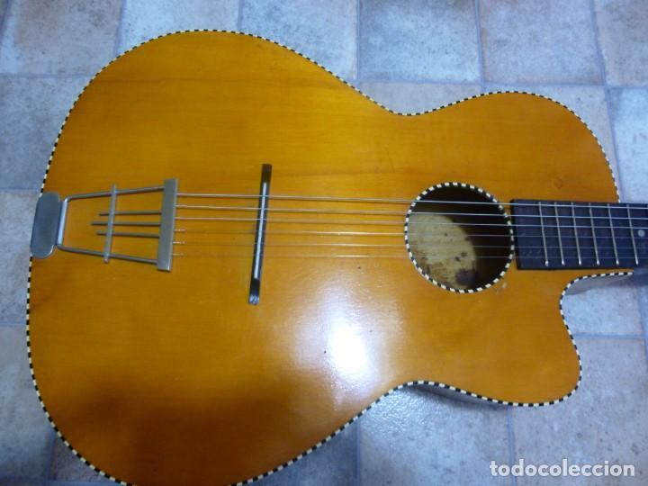 ANTIGUA GUITARRA ALEMANA JAZZ-GIPSY (Música - Instrumentos Musicales - Guitarras Antiguas)