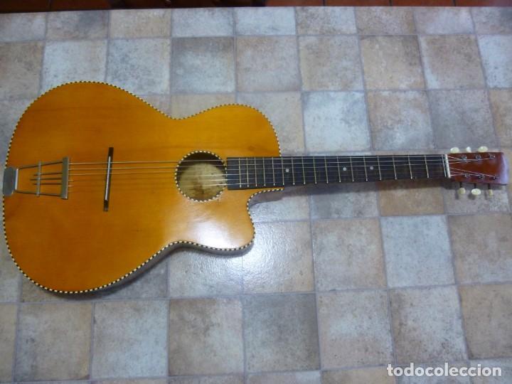 Instrumentos musicales: Antigua guitarra alemana jazz-gipsy - Foto 2 - 208967468