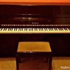 Instrumentos musicales: PIANO KAWAI NEGRO LACADO. Lote 209001247