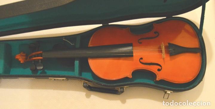 VIOLIN - CON ESTUCHE Y ARCO - EN USO - NECESITA CAMBIAR CUERDAS DEL ARCO (Música - Instrumentos Musicales - Cuerda Antiguos)