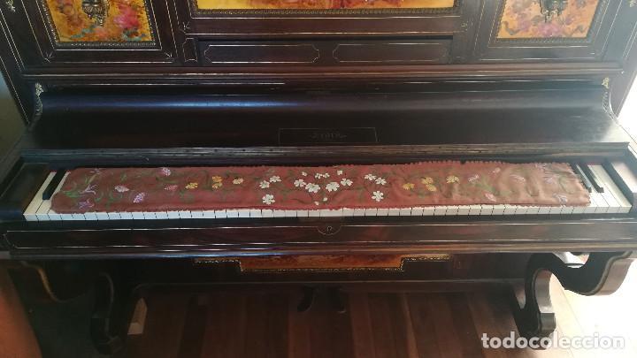 Instrumentos musicales: PIANO PARED ERARD EPOCA NAPOLEON III MEDALLA HONOR EXPOSICION PARIS - Foto 15 - 210191395