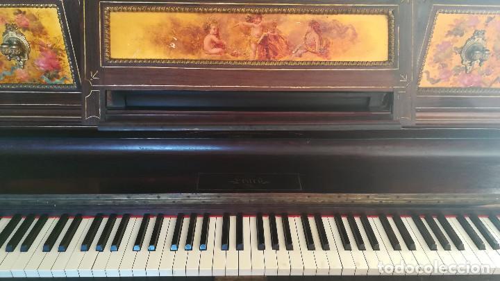 Instrumentos musicales: PIANO PARED ERARD EPOCA NAPOLEON III MEDALLA HONOR EXPOSICION PARIS - Foto 17 - 210191395