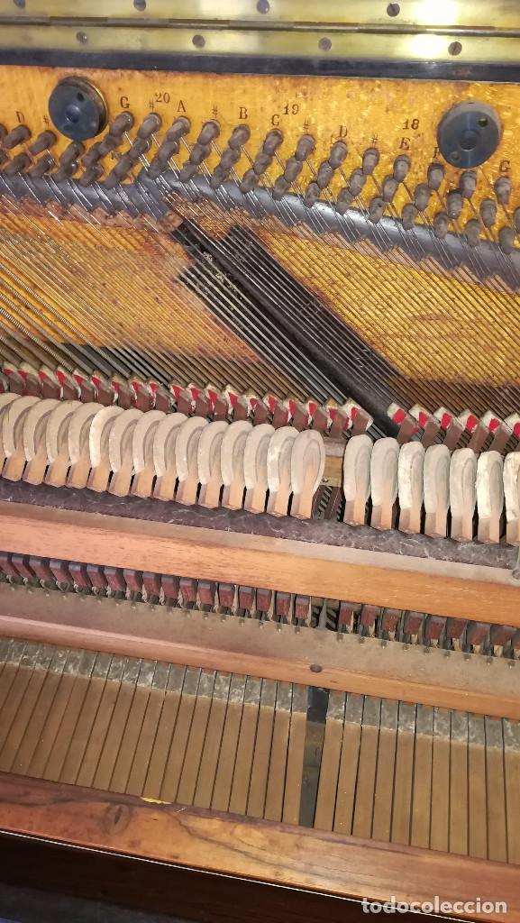 Instrumentos musicales: PIANO PARED ERARD EPOCA NAPOLEON III MEDALLA HONOR EXPOSICION PARIS - Foto 27 - 210191395