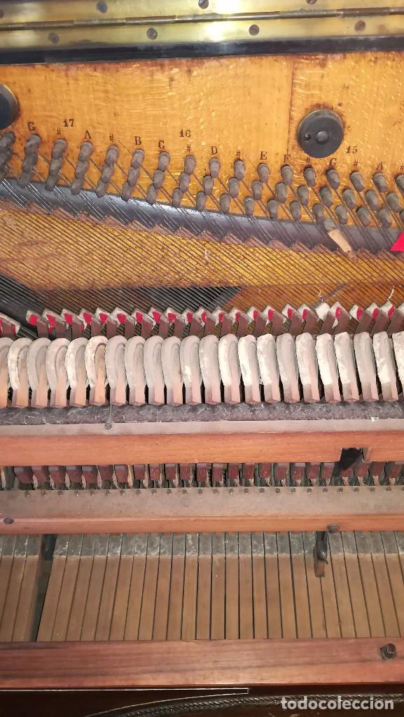 Instrumentos musicales: PIANO PARED ERARD EPOCA NAPOLEON III MEDALLA HONOR EXPOSICION PARIS - Foto 28 - 210191395